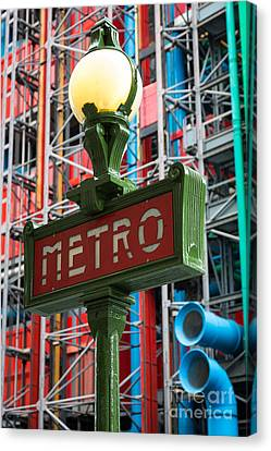 Europa Canvas Print - Paris Metro by Inge Johnsson