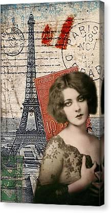 Ports Canvas Print - Paris Momento by Sandy Lloyd