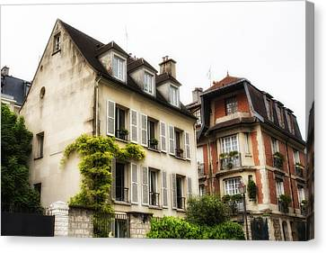 Paris Montmartre Houses Canvas Print