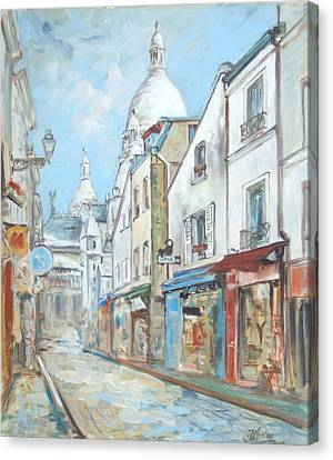 Paris - Montmartre Canvas Print by Irek Szelag