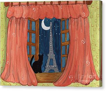 Paris Moonlight Canvas Print by Lee Owenby