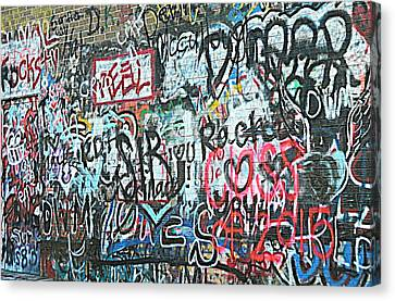 Canvas Print featuring the photograph Paris Mountain Graffiti by Kathy Barney