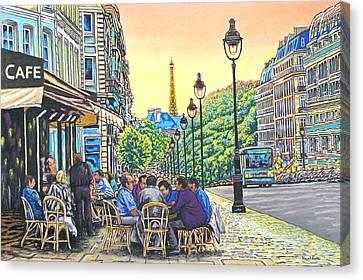Paris Nights Canvas Print by David Linton
