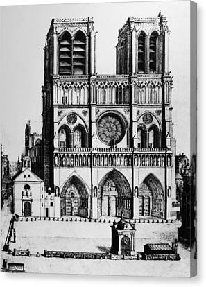 Paris Notre Dame, 1699 Canvas Print by Granger