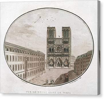 Paris Notre Dame, 1700s Canvas Print by Granger