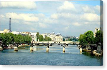 Canvas Print featuring the photograph Paris On The Seine by Kay Gilley