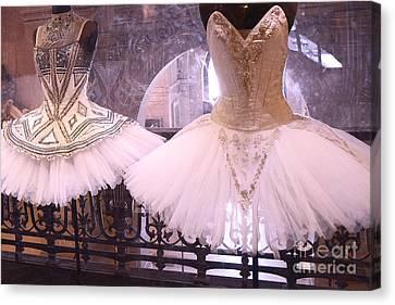 Haute Canvas Print - Paris Opera Garnier Ballerina Dresses - Paris Ballet Opera Tutu Costumes - Paris Opera Des Garnier  by Kathy Fornal