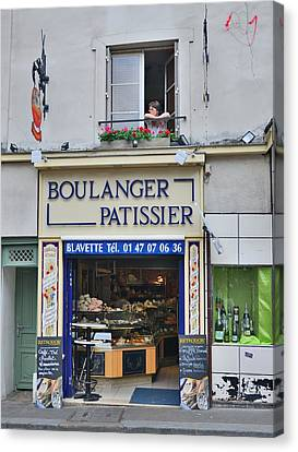 Paris Patissier Canvas Print by Steven Richman
