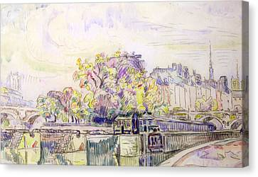 Paris Canvas Print by Paul Signac