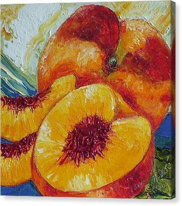 Paris' Peach Canvas Print by Paris Wyatt Llanso
