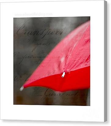 Paris Rains Original Signed Mini Canvas Print
