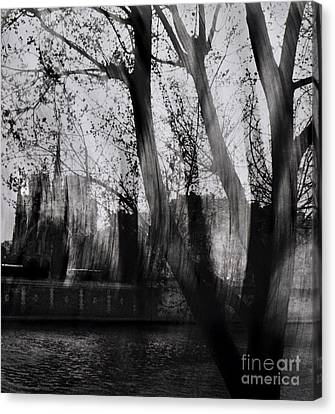 Paris Reminiscence Canvas Print by Michaela Stejskalova