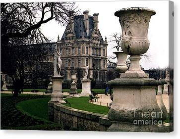 Tuileries Canvas Print - Paris Louvre Tuileries Park - Jardin Des Tuileries Garden - Paris Landmark Garden Sculpture Park by Kathy Fornal