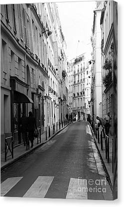 Paris Rue St. Honore Street Art Deco - Paris Black And White Street Architecture Canvas Print