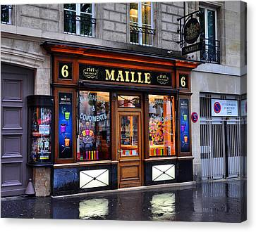 Paris Shop Canvas Print by Matthew Chapman