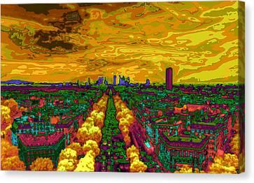 Paris Skyline Pop Art Canvas Print by Eti Reid