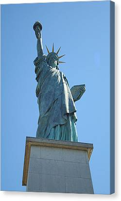 Canvas Print featuring the photograph Paris Statue Of Liberty by Kay Gilley