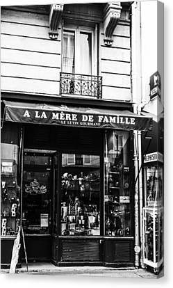 Paris Store Front Canvas Print by Georgia Fowler