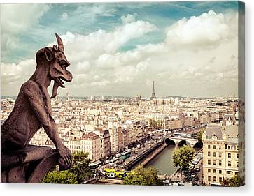Paris - The City From Above Canvas Print