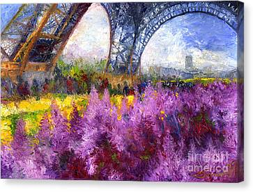 Paris Tour Eiffel 01 Canvas Print by Yuriy  Shevchuk