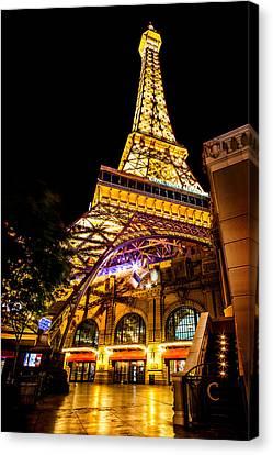 Paris Under The Tower Canvas Print by Az Jackson