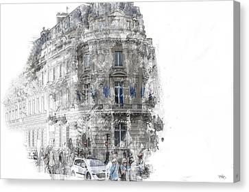 Paris With Flags Canvas Print