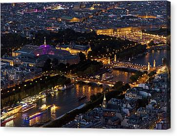 Parisian Night Canvas Print by Maj Seda