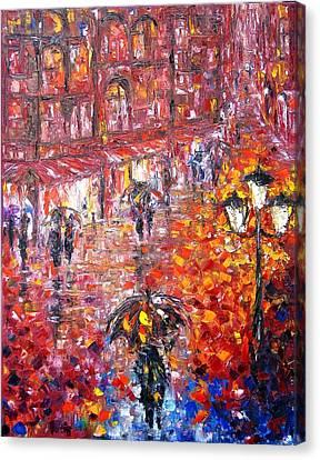 Parisian Umbrellas Canvas Print