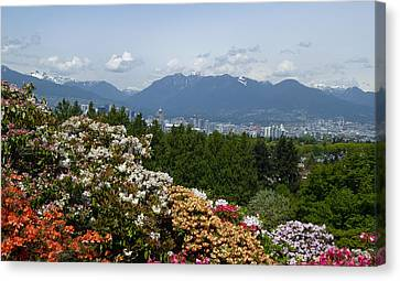 Canvas Print featuring the photograph Park And City View by Laurie Tsemak