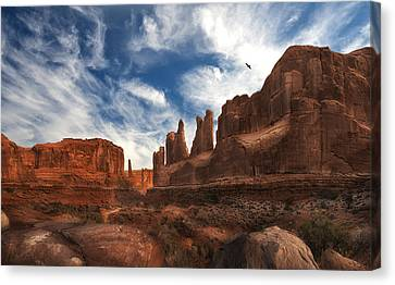 Park Ave Overlook At Arches National Park Canvas Print