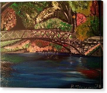 Park Canvas Print by Barbara Judkins-Stevens