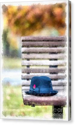 Park Bench Canvas Print by Edward Fielding