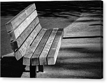 Park Bench Canvas Print by Ludwig Keck