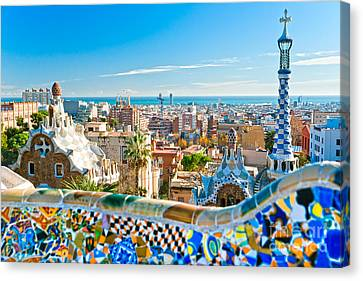 Park Guell - Barcelona Canvas Print by Luciano Mortula