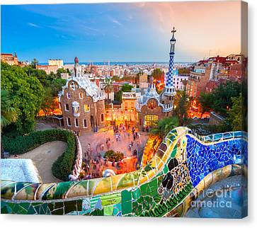 Park Guell In Barcelona - Spain Canvas Print