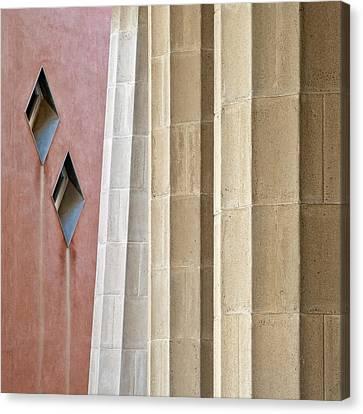 Park Guell Pillars Canvas Print by Dave Bowman