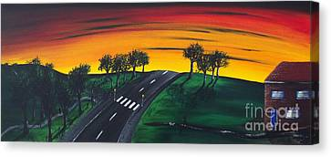 Park Lane Canvas Print by Kenneth Clarke