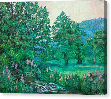 Canvas Print featuring the painting Park Road In Radford by Kendall Kessler