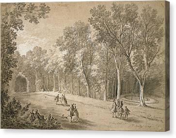 Park Scene Jean-baptiste Oudry, French Canvas Print