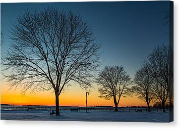 Park Sunset Canvas Print