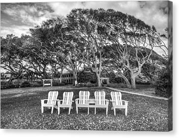 Jeckll Island Canvas Print - Park Under The Oaks by Debra and Dave Vanderlaan