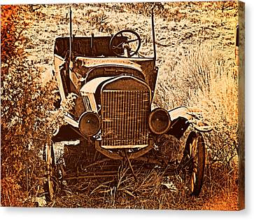 Old Trucks Canvas Print - Parked 2 by Leland D Howard