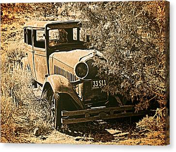 Old Trucks Canvas Print - Parked 3 by Leland D Howard