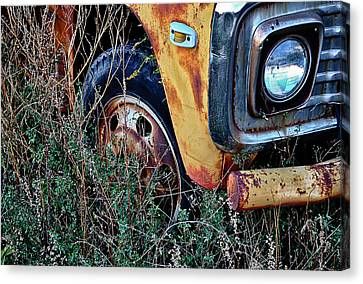 Canvas Print featuring the photograph Parked Fuel Oil Truck by Greg Jackson