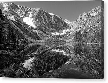 Parker Lake Black And White Canvas Print