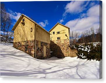 Parker Mill Winter Canvas Print
