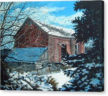 Parker Road Barn Canvas Print by William  Brody