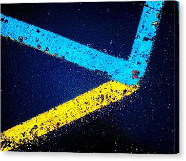 Canvas Print featuring the photograph Parking Lot by Daniel Thompson