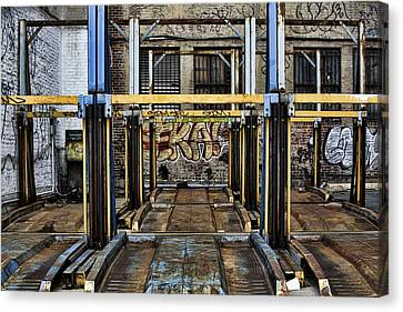 Parking Unreality Canvas Print by Joanna Madloch