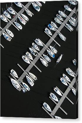 Parking Yacht Canvas Print by Rob Huntley